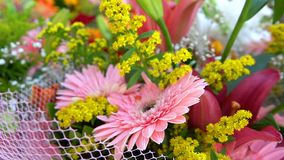 Wedding or Special Days Bouget Composition of Flowers. Video stock footage