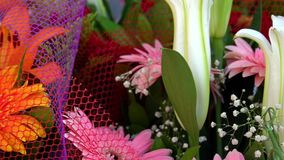 Wedding or Special Days Bouget Composition of Flowers. Video stock video footage
