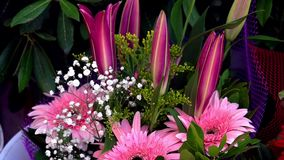Wedding or Special Days Bouget Composition of Flowers. Video stock video