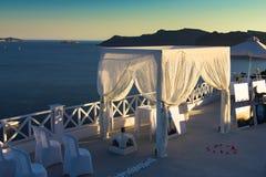 The wedding spot in Santorini caldera Royalty Free Stock Photography