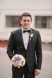 Wedding spouse. Cute handsome and kindwedding spouse Royalty Free Stock Image