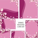 Wedding spring card set Royalty Free Stock Photos