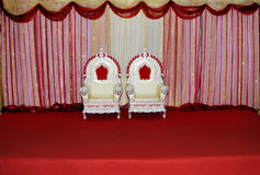 Wedding stage. An Indian wedding stage with traditional floral decoration Stock Images
