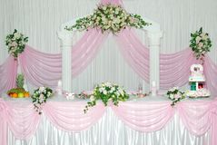 Wedding stage Royalty Free Stock Image