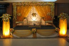 Wedding Stage stock image. Image of flora, indian, culture ...