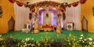 Mehndi Stage Background : Wedding stage decoration stock images photos