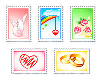 Wedding stamps Royalty Free Stock Photography