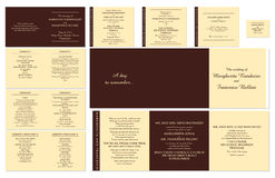 Wedding Stationery Stock Images