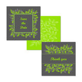 Wedding stationery design set. Vector. Useful for wedding invitations, congratulations and greeting cards Stock Photography