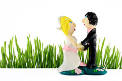 Wedding Statue  on white Royalty Free Stock Image