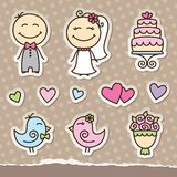 Wedding stickers Royalty Free Stock Photos