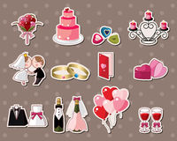 Wedding stickers Stock Photos