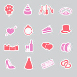 Wedding stickers set eps10 Stock Images