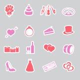 Wedding stickers set eps10 vector illustration