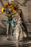 Wedding still life. Decorations on the wedding table for the  and groom Royalty Free Stock Image
