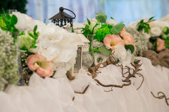 Wedding still life in rustic style. Retro stylized photo. Stock Image