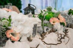 Wedding still life in rustic style. Retro stylized photo. Stock Photos