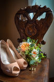 Wedding still life with shoes Stock Photo