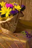 Wedding still life in yellow tone Royalty Free Stock Photos