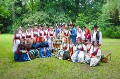 Wedding of Straznice, all folk group Stock Images