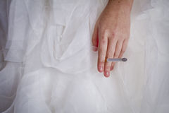 Wedding Stress Royalty Free Stock Photography