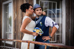 Wedding, style, yacht royalty free stock photo
