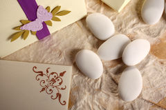 Wedding - sugared almonds Royalty Free Stock Images