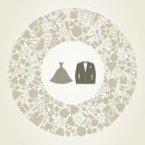 Wedding suit royalty free illustration