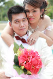 Wedding suit of couple Stock Image