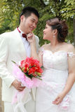 Wedding suit of couple Stock Photos