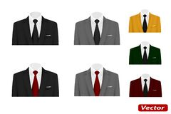 Wedding suit with a tie vector Stock Image