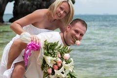 Wedding sulla spiaggia Immagini Stock