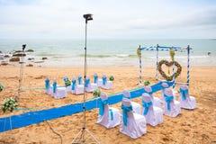 Wedding sulla spiaggia Immagine Stock