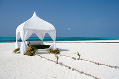Wedding summerhouse. For the ceremony on the tropical island Royalty Free Stock Photography