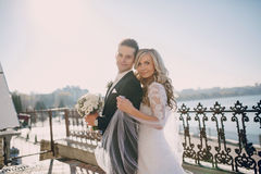 Free Wedding Sunny Weather And Beautiful Couple Stock Photo - 52427350