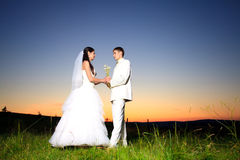 Wedding sunset Stock Photo