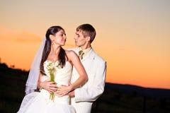 Wedding sunset Stock Images