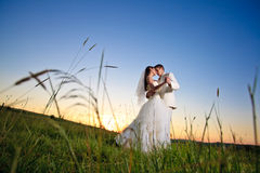 Wedding sunset Royalty Free Stock Image