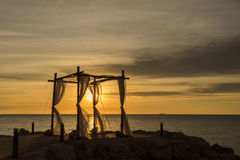 Wedding Sunset at the beach Stock Photography