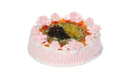 Wedding sweet cake with flower Royalty Free Stock Image