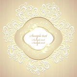 Wedding or sweet frame with petals and lace Stock Photography