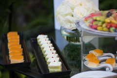 Wedding sweets bar Stock Photo