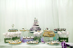 Wedding sweets, blueberry cake Stock Photos