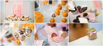 Wedding sweets collage Stock Photography