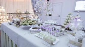Wedding sweets stock footage