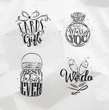 Wedding symbols Royalty Free Stock Images