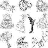 Wedding symbols Stock Images