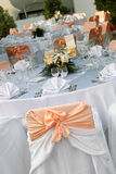 Wedding table. Arranged for the party Stock Image