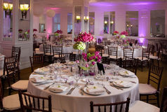 Wedding table. Wedding guest tables set up for an event Royalty Free Stock Image