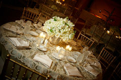 Wedding table. Elegant wedding guest table set for an event